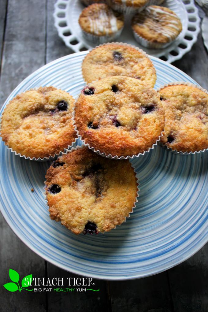 Keto Blueberry Crumb Muffin