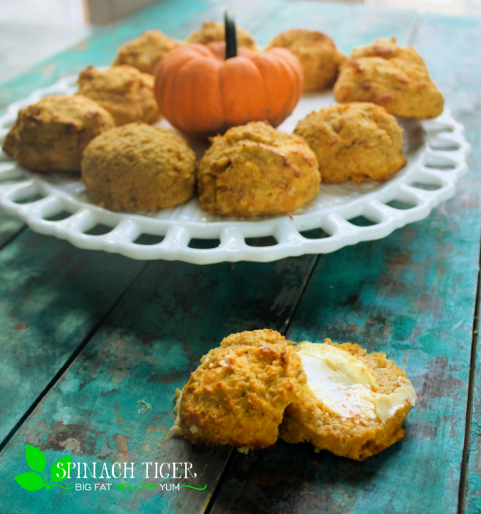 Keto Pumpkin Biscuits with Butter