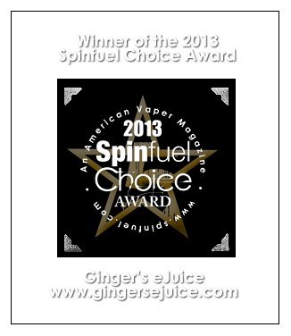 Spinfuel Choice Award Ginger's eJuice