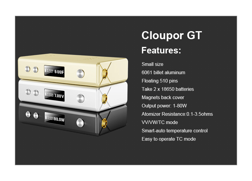 CLOUPOR GT FEATURES