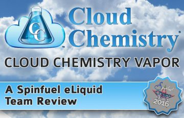 Cloud Chemistry Vapor A Spinfuel eLiquid Review Team Review