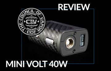 The Mini Volt by Council of Vapor – A Review by John Manzione for Spinfuel eMagazine – A Box Mod 40W device.