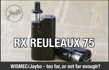 The WISMEC Reuleaux RX75W Kit Review by Spinfuel eMagazine