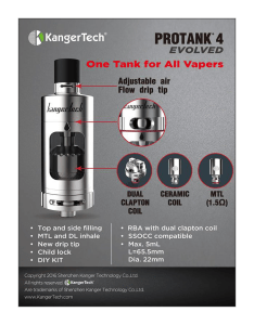 Kanger™ Protank 4 Evolved Review by Spinfuel eMagazine