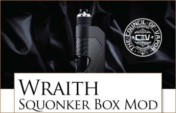 Council of Vapor Wraith Squonk – Review by Spinfuel VAPE Magazine