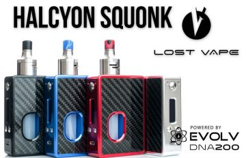 Lost Vape Halcyon Squonk Box Mod Review Spinfuel VAPE Magazine