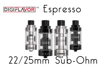 Digiflavor Espresso GST 22/25mm Tanks REVIEW SPINFUEL VAPE MAGAZINE