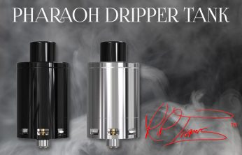 Digiflavor Pharaoh Dripper Tank REVIEW SPINFUEL VAPE MAGAZINE