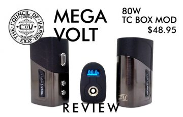 Council of Vapor Mega Volt 80W TC Box Mod REVIEW SPINFUEL VAPE MAGAZINE