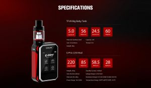 SMOK G-Priv 220W Touch Screen Starter Kit - Spinfuel VAPE Magazine