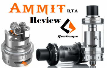 Ammit RTA by Geek Vape - Spinfuel VAPE Review