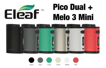 eLeaf iStick Pico Dual with Melo 3 Mini Starter Kit Review Spinfuel VAPE Magazine