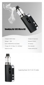 Smokjoy Air 50S Micro Box Mod Starter Kit Review Spinfuel VAPE Magazine