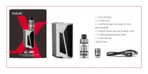 SMOK GX350 TC Box Mod Starter Kit Review SPINFUEL VAPE MAGAZINE