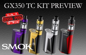 SMOK GX350 TC Starter Kit Preview by Spinfuel VAPE Magazine