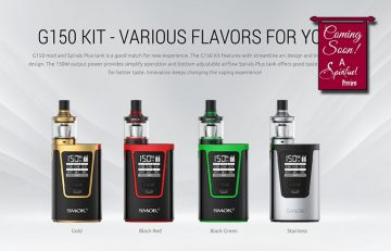 PREVIEW: SMOK G150 TC Box Mod Kit - Spinfuel VAPE Magazine