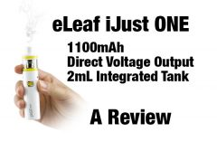 eLeaf iJust ONE AIO Mod Review Spinfuel VAPE Magazine