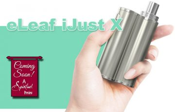 eLeaf iJust X Box Mod Preview - Spinfuel VAPE Magazine