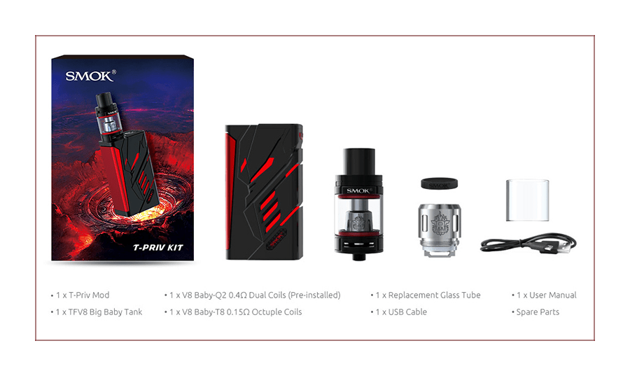 SMOK T PRIV 220W TC Full Kit Preview - SPINFUEL VAPE MAGAZINE