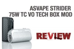 ASVAPE STRIDER 75W TC VO TECH BOX MOD REVIEW – SPINFUEL VAPE