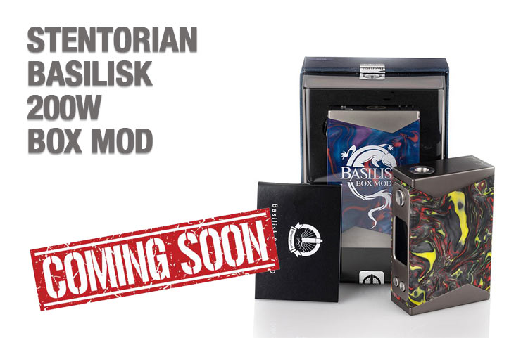 STENTORIAN BASILISK 200W BOX MOD PREVIEW – Spinfuel VAPE