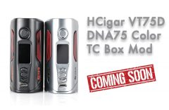 HCigar VT75D DNA75 Color TC Box Mod Preview – Spinfuel Vape