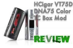 HCigar VT75D DNA75 Color TC Box Mod REVIEW – Spinfuel VAPE