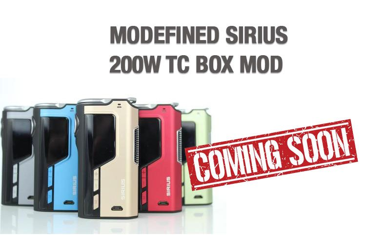 MODEFINED SIRIUS 200W TC BOX MOD PREVIEW – SPINFUEL VAPE