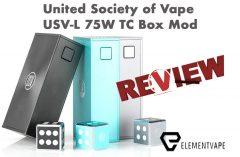 United Society of Vape USV-L 75W TC Box Mod Review – SPINFUEL VAPE