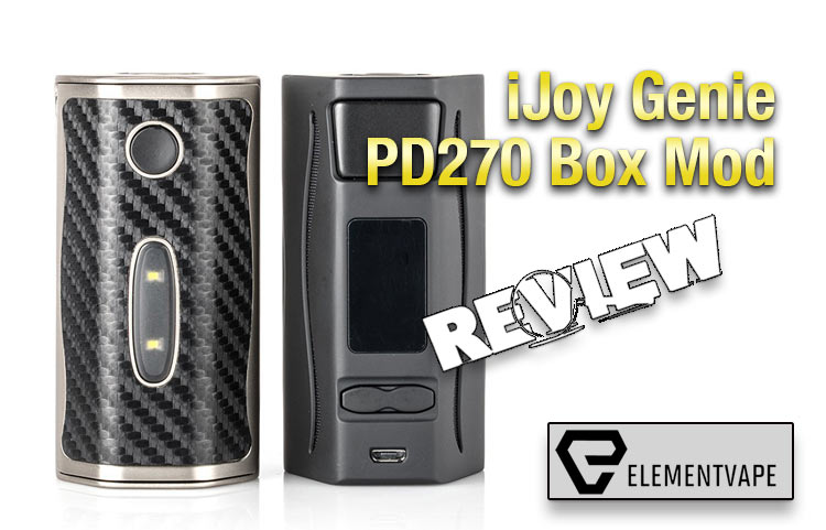 IJOY Genie PD270 Box Mod Review - Spinfuel VAPE