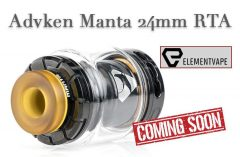 Advken Manta 24mm RTA Preview – SPINFUEL VAPE