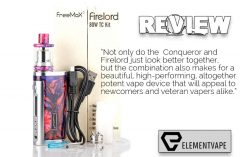 . Not only do the Conqueror and Firelord just look better together, but the combination also makes for a beautiful, high-performing, altogether potent vape device that will appeal to newcomers and veteran vapers alike.