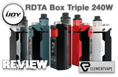 iJOY RDTA Box Triple 240W TC Starter Kit Review – Spinfuel Vape