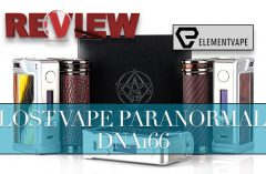 Lost Vape Paranormal DNA166 167W Review – SPINFUEL VAPE