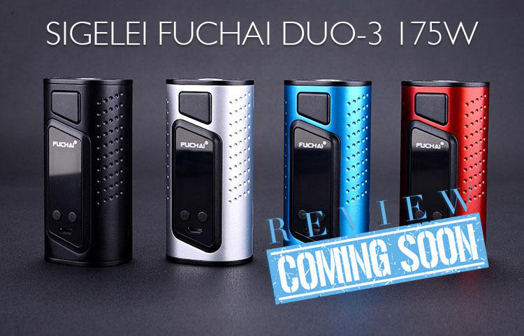 Sigelei Fuchai Duo-3 175W TC Box Mod Preview – SPINFUEL VAPE