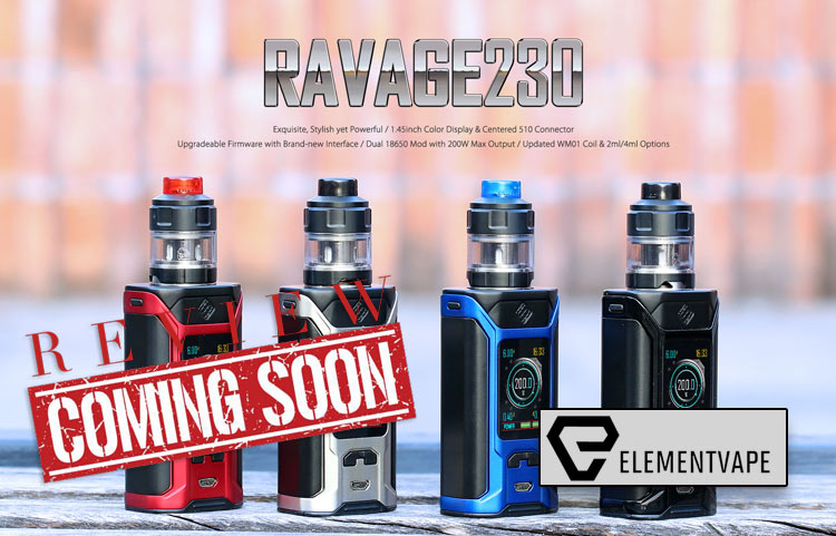 WISMEC/Sinuous Ravage230 Starter Kit Preview – Spinfuel VAPE