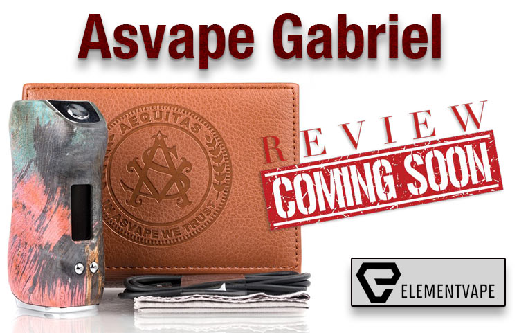Asvape Gabriel 80W TC Stabilized Wood Box Mod Preview