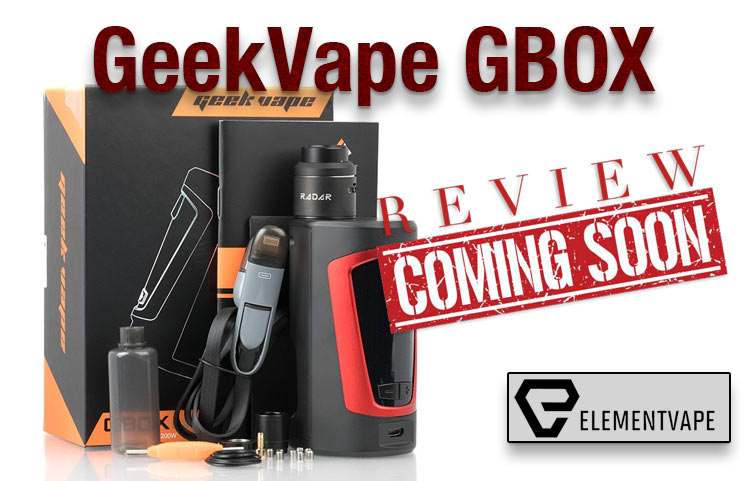 GeekVape GBOX 200W Dual-Battery Squonk Mod Kit Preview