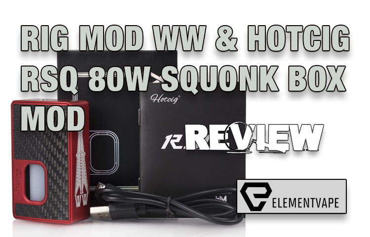 Hotcig x Rig Mod RSQ Regulated Squonk Mod Review | Spinfuel VAPE