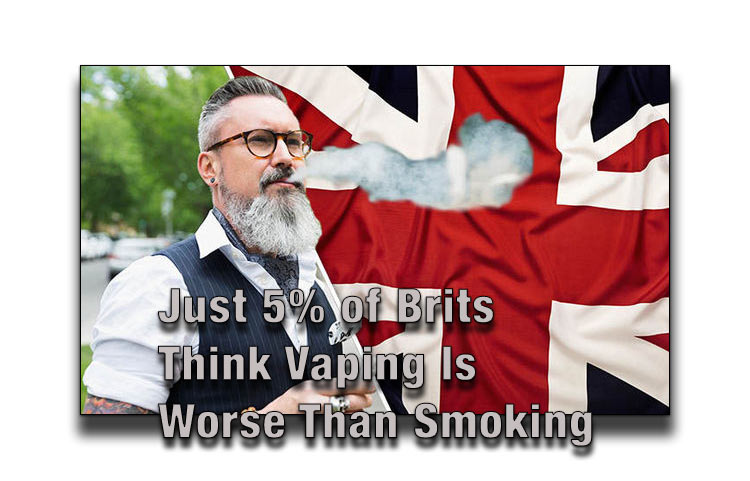 Just 5% of Brits Think Vaping Is Worse Than Smoking - SPINFUEL VAPE