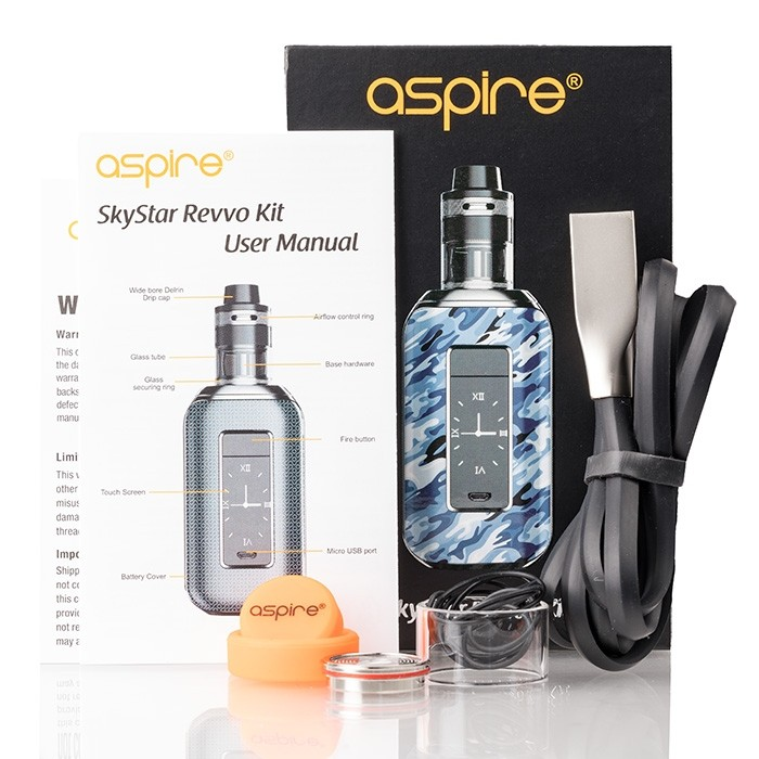 aspire_skystar_revvo_210w_touch_screen_kit_package_contents