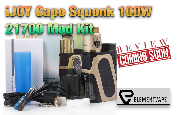 iJOY Capo Squonk 100W 21700 Mod Kit Preview by Spinfuel VAPE