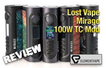 Lost Vape Mirage 100W DNA75C TC Box Mod Review - Spinfuel VAPE