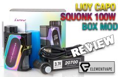 iJOY Capo Squonker 100W Box Mod Review - Spinfuel VAPE