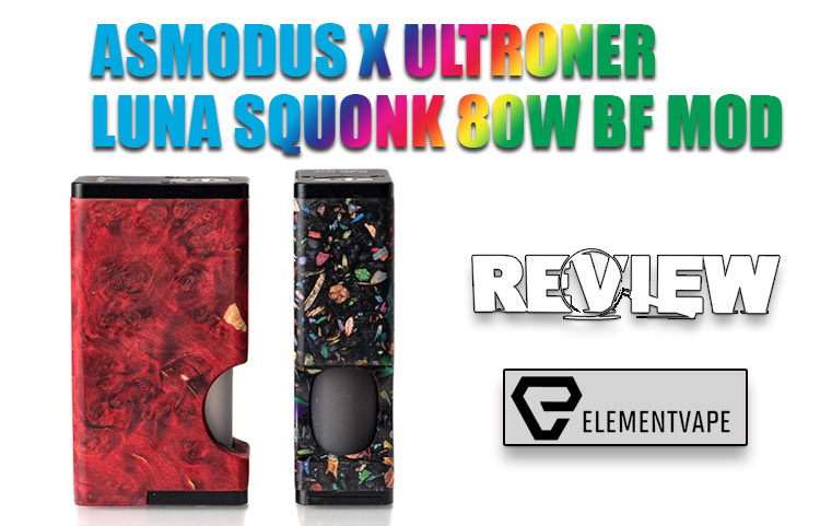 AsMODus x Ultroner Luna Squonk 80W BF Mod Review - Spinfuel VAPE