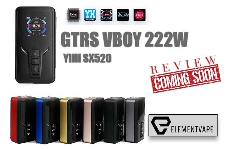 GTRS VBOY 222W TC YIHI SX520 BOX MOD PREVIEW - SPINFUEL VAPE
