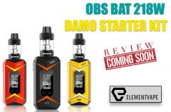 OBS BAT 218W & DAMO STARTER KIT PREVIEW - SPINFUEL VAPE