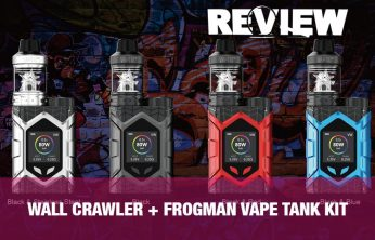The Vaptio Wall Crawler Mod and Frogman Vape Tank Kit Review - SPINFUEL VAPE