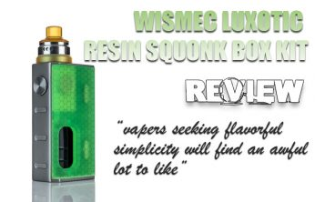 WISMEC Luxotic Resin Squonk Box Kit Review Spinfuel VAPE