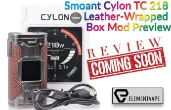 Smoant Cylon TC 218 Leather-Wrapped Box Mod Preview